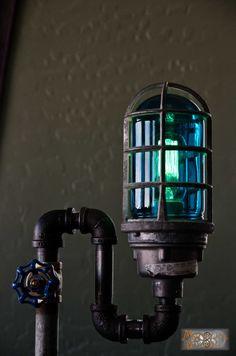 "The ""Tall Boy"", Steampunk / Industrial floor lamp."