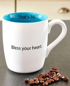 Southern Charm Coffee Mug That's All 16 Oz Bless Your Heart White Ceramic  #SantaBarbaraDesignStudios