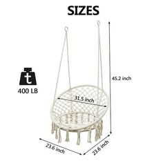 Shop Hammock Chair Swing Max 550 Lbs-Hanging Cotton Rope Hammock Swing Chair And 6 Pcs Wine Bottle Lights - Beige - 31.49inches - Overstock - 31823529 Diy Hammock, Rope Hammock, Hammock Swing Chair, Swing Seat, Hammock Stand, Swinging Chair, Rocking Chair, Lighted Wine Bottles, Bottle Lights