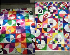"""Sandra Foulds designed two quilts using the 3.5"""" and 7"""" GO! Drunkard's Path Dies. One for her to learn and design and one for a special friend during cancer treatment. (Friend is now recovering!)  Thank you for sharing Sandra!"""