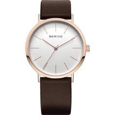1c06cd167 BERING 13436-564 Classic Unisex Watch Brown Leather Strap Rose Gold Case  Bering Uhren,