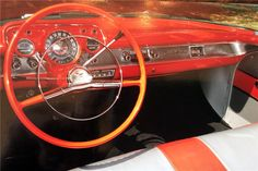 1957 CHEVROLET BEL AIR CONVERTIBLE - Interior - 195878