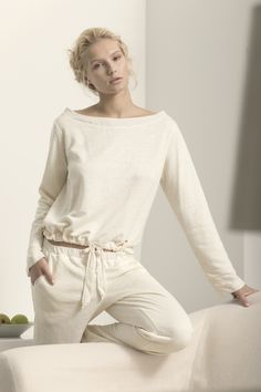 Touche Collection Lingerie / Off White Pajama www.touche.com.co Gintare Sudziute