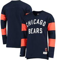 Chicago Bears Mitchell & Ness Field Goal Long Sleeve T-Shirt - Navy - $63.99