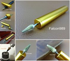 1pc Leather Craft Quality Brass Top Pro Edge Dye Roller Applicator Pen Tool NEW