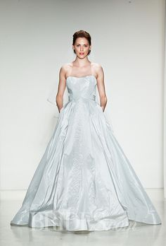 Wedding Gowns With Beautiful, Subtle Hues. #weddings #dresses #color