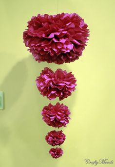 DIY Cascading Pom Poms ~ Perfect for Parties & Weddings! (she: Trish) - Or so she says...