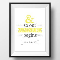 Check out this item in my Etsy shop https://www.etsy.com/uk/listing/554382757/our-adventure-begins-yellow-and-grey