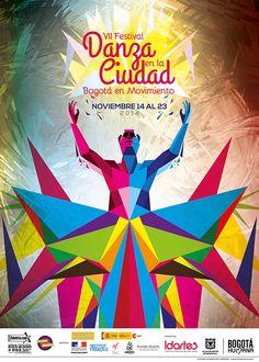 Afiche VII Festival Danza en la Ciudad. Diseño: Oscar Zambrano, Cristian…