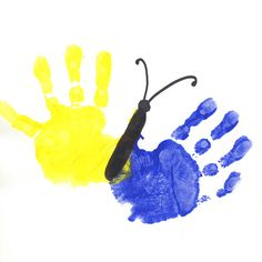 1000 images about handprint art on pinterest for Butterfly hands craft