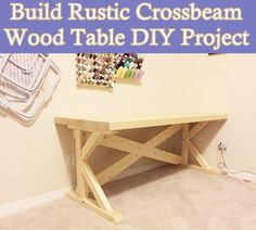 Build Rustic Crossbeam Wood Table DIY Project  Homesteading  - The Homestead Survival .Com