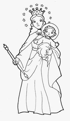 Dibujos para catequesis: MARÍA AUXILIADORA
