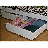 Berg Furniture Under Bed Storage Drawer (Set of 2) - Chestnut deals week