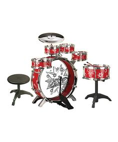 Take a look at the True Harmony Red Deluxe Drum Set on #zulily today!
