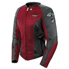 Joe Rocket 'Skyline 2.0' Womens Wine/Black Mesh Motorcycle Jacket - LeatherUp.com