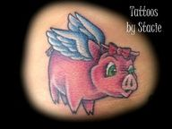 flying pig tattoo - Google Search   In memory of my grandmother!