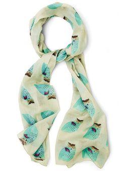 Pretty owl scarf.
