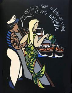 chanson interprétée par Jeanne Moreau, Cyrus Bassiak [Serge Rezvani] paroles et musique, 1966 Jeanne Moreau, Illustration, Comic Books, Comics, Animals, Art, Sailors, Lyrics, Animales