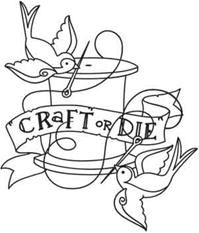 Craft or Die embroidery pattern from Urban Threads