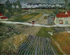 Landscape with a Carriage and a Train. Vincent Van Gogh