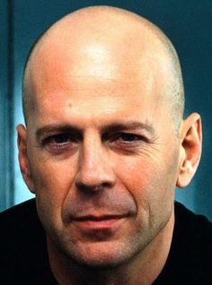 Bruce Willis. Head Anatomy, Bald Man, Male Pattern Baldness, Anthony Hopkins, Shaved Head, The Expendables, Bruce Willis, Straight Guys, Steve Mcqueen