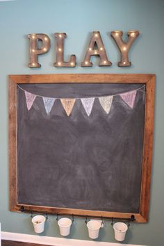 DIY Playroom Ideas and Furniture - Playroom Chalkboard - Easy Play Room Storage, Furniture Ideas for Kids, Playtime Rugs and Activity Mats, Shelving, Toy Boxes and Wall Art - Cute DIY Room Decor for Boys and Girls - Fun Crafts with Step by Step Tutorials and Instructions http://diyjoy.com/diy-playroom-ideas