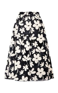 Floral-Print Flared Gauze Skirt by Marni