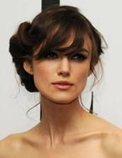 side bun with fringe - Google Search