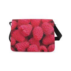 Raspberries Messenger Bag. FREE Shipping. #artsadd #bags #fruits