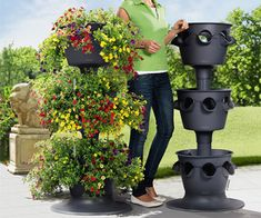 Lechuza Cascada - Stackable Self-Watering Planters