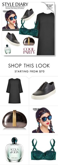 """Dress and Sneakers"" by aria-star ❤ liked on Polyvore featuring Vince, Ted Baker, GIMMAX Glasses, Giorgio Armani, Dolce&Gabbana, women's clothing, women, female, woman and misses"