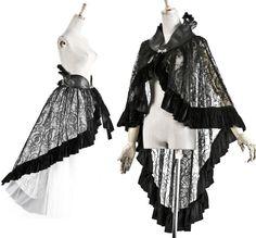Gothic Shawl Belt Punk Rave black victorian Cape cloak skirt Q-167   eBay