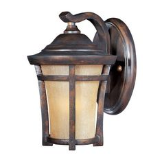 Maxim Lighting 40162GFCO Balboa Outdoor Sconce, Copper Oxide by Maxim Lighting. $92.34. From the Manufacturer                Size:Small, Finish: Copper Oxide, Glass:Golden Frost, Light Bulb:(1)100w A19 Med F Incand Maxim Lighting's Balboa VX Collection is made with Vivex, a material twice the strength of resin, is non-corrosive, UV resistant and backed with a 3-Year Limited Warranty.                                    Product Description                Size:Small, Fini...