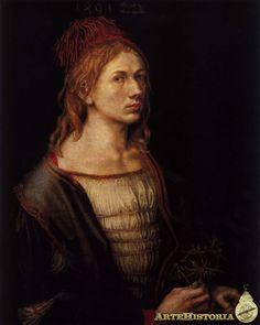 DURERO. Autorretrato como novio. 1493.