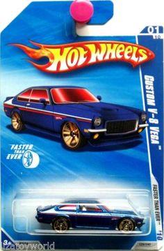 1971 Chevy VEGA V-8 Hot Wheels 2010 Faster Than Ever #01/10 Blue Version