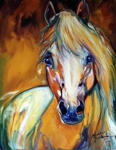 Pinturas de cavalo por Marcia Baldwin