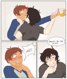"""""""lance: you know i could've just got u another drink right? keith: . """""""