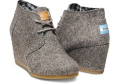 Herringbone Women's Desert Wedges | TOMS.com