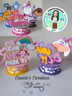 Foam Crafts, Diy And Crafts, Paper Crafts, Cat Birthday, Mickey Mouse Birthday, Diy Cake Topper, Cake Toppers, Ideas Para Fiestas, Party Kit