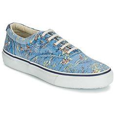 mooie Sperry Top-Sider striper hawaiian heren sneakers (Blauw)