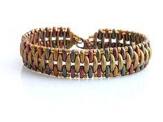 Crescent and bar beads bracelet  http://www.sashe.sk/kacenkag/detail/crescent-v-jesennych-tonoch