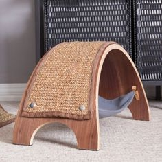 The replaceable cat scratcher is a beautiful new cat scratcher featuring high-quality wood finishes, long lasting durability replacement feature for long-lasting reuse and replacement value. Now you can finally own a cat scratcher you won't have to hide f Pet Furniture, Wooden Furniture, Furniture Stores, Cat Scratcher, Owning A Cat, Cat Room, Scratching Post, Cat Grooming, Pet Beds