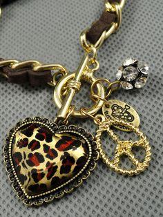 Image of  [grlhx1120003]Leopard Heart Bracelet