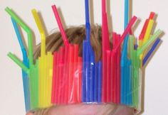 Straws / contact paper