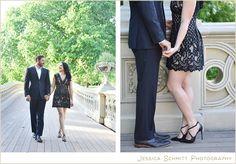 central park engagement, bow bridge nyc engagement photography