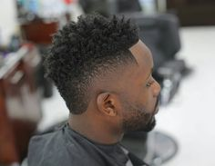 Black Men Haircuts, Black Men Hairstyles, Curled Hairstyles, Fade Cut, Beard Haircut, Cut Up, Curly Hair Men, Black Power, Facial Hair