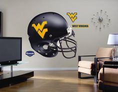 West Virginia Mountaineers Helmet - Fathead Wall Decal Sticker