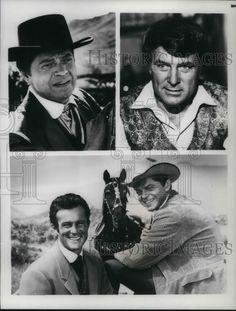 1980 Press Photo Ross Martin and Robert Conrad on Wild Wild West TV show