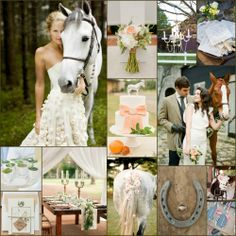 Calling all horse lovers! Have an elegant equestrian wedding.... <3