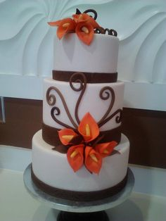 fall wedding cake